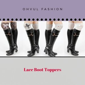 New Bundle 4 Sexy Lace Bow Stretchy Boot Toppers